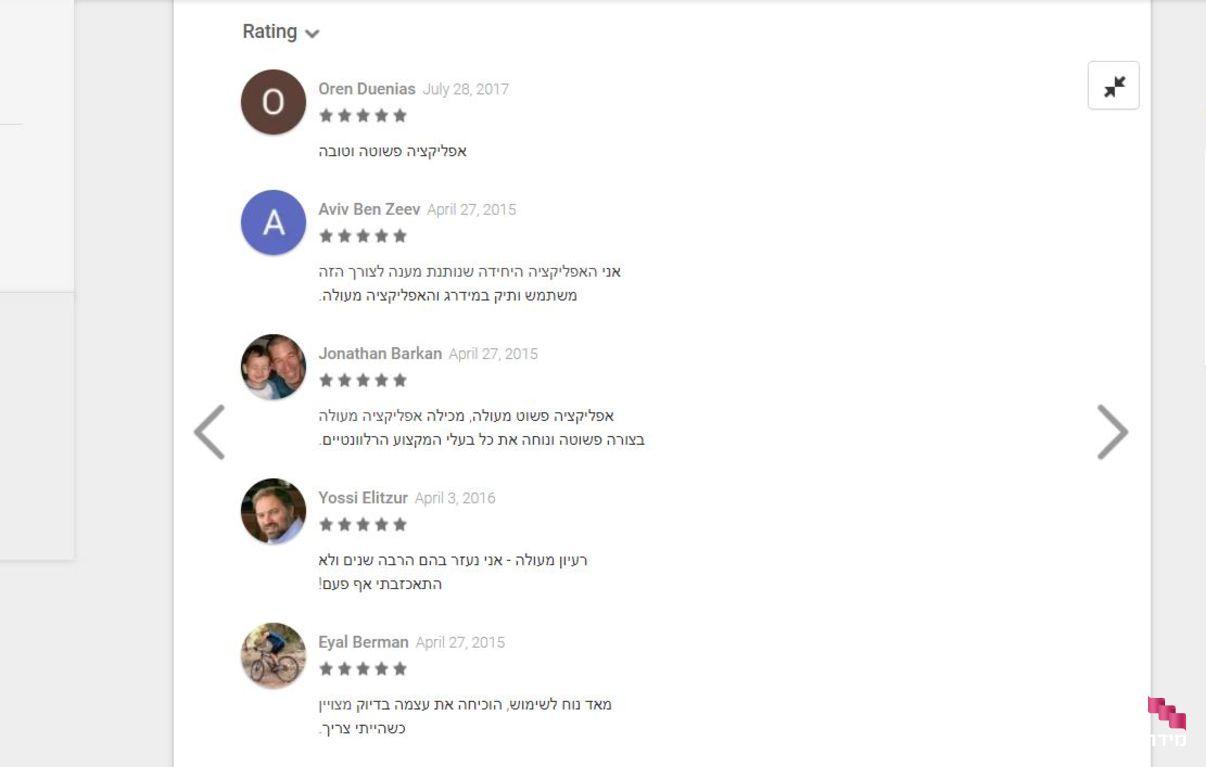 האפליקציה של מידרג