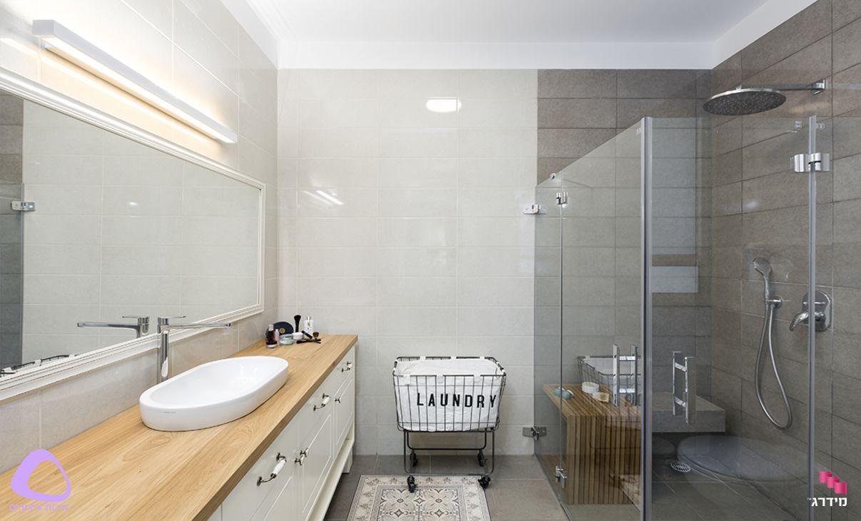 עיצוב דירת קבלן חדר אמבטיה