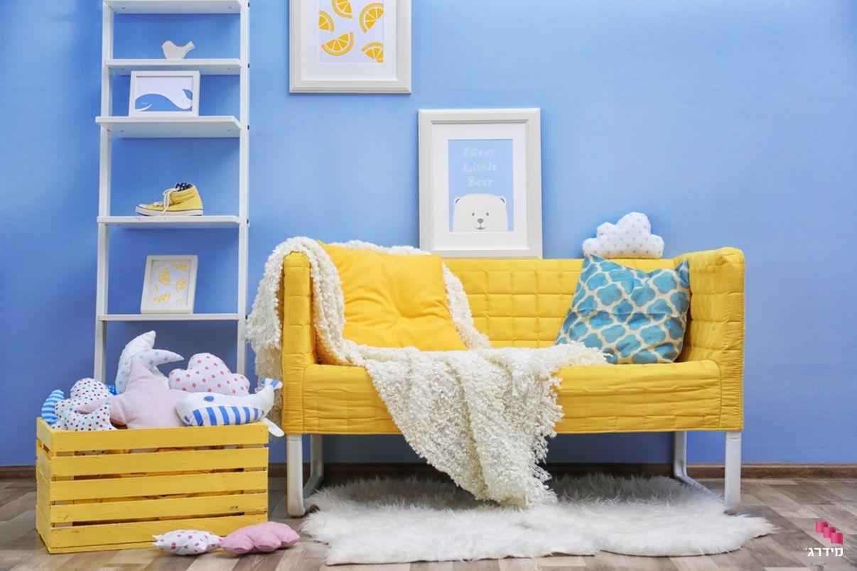 צביעת חדר ילדים בכחול