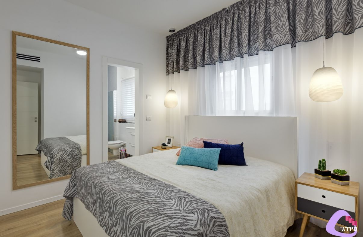 עיצוב חדר שינה דירה קטנה