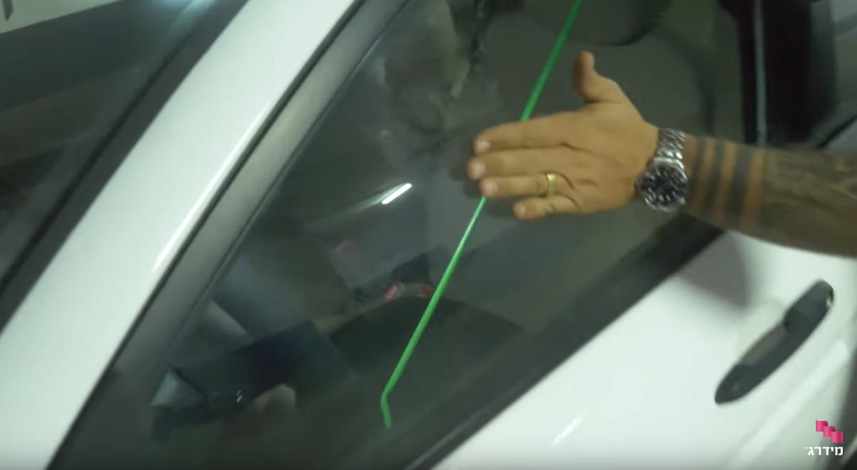 פריצת רכבים | פתיחת המנעול בעזרת מוט