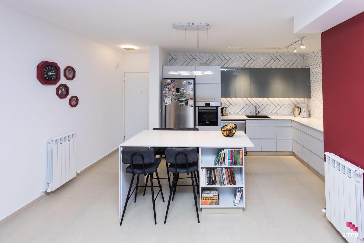 עיצוב דירת קבלן פינת אוכל