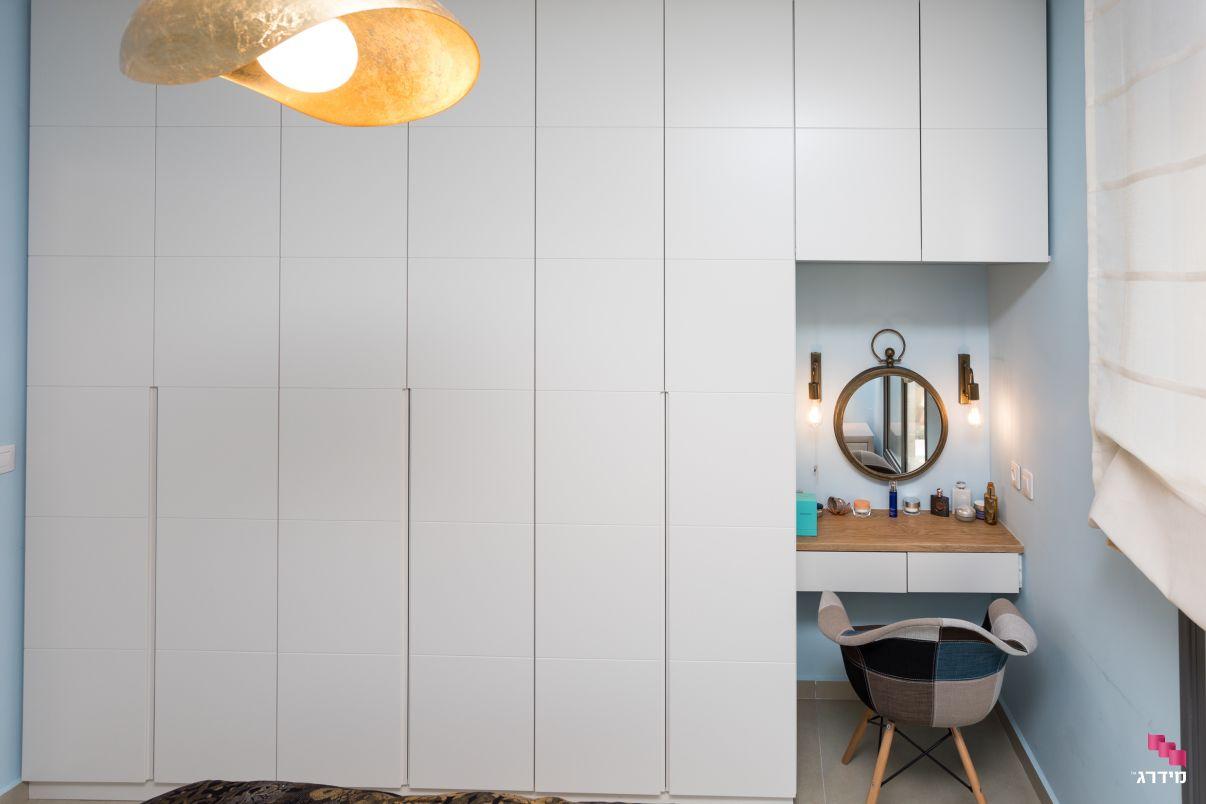 עיצוב חדר שינה דירת קבלן