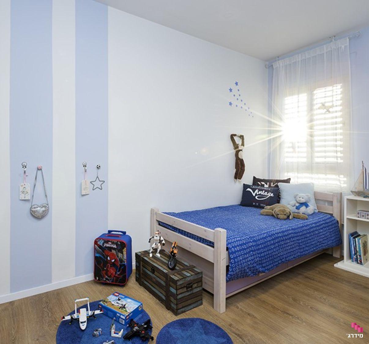 עיצוב דירת קבלן חדר בנים