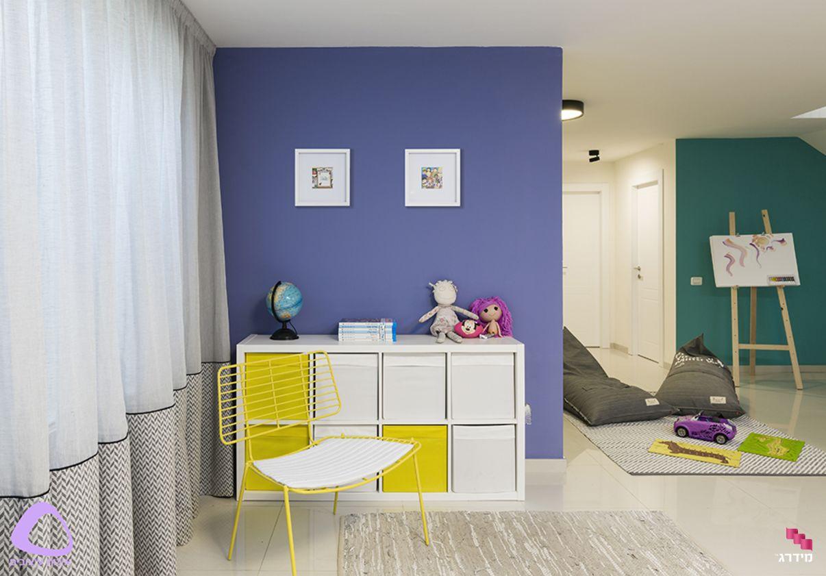 עיצוב חדר משפחה בדירה מקבלן