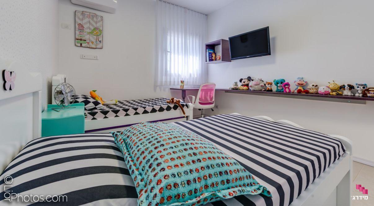 עיצוב דירת קבלן חדר ילדים