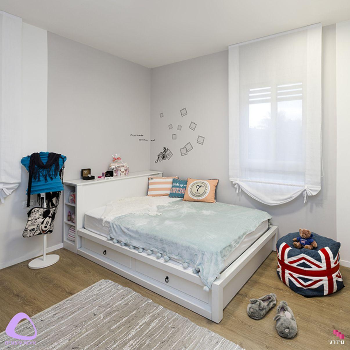 עיצוב חדר נערים דירת קבלן