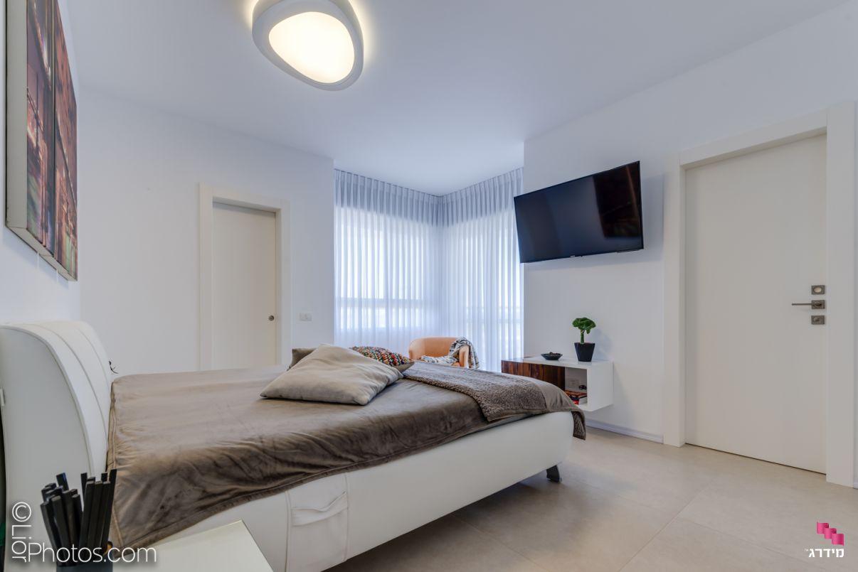 עיצוב דירה מקבלן חדר שינה