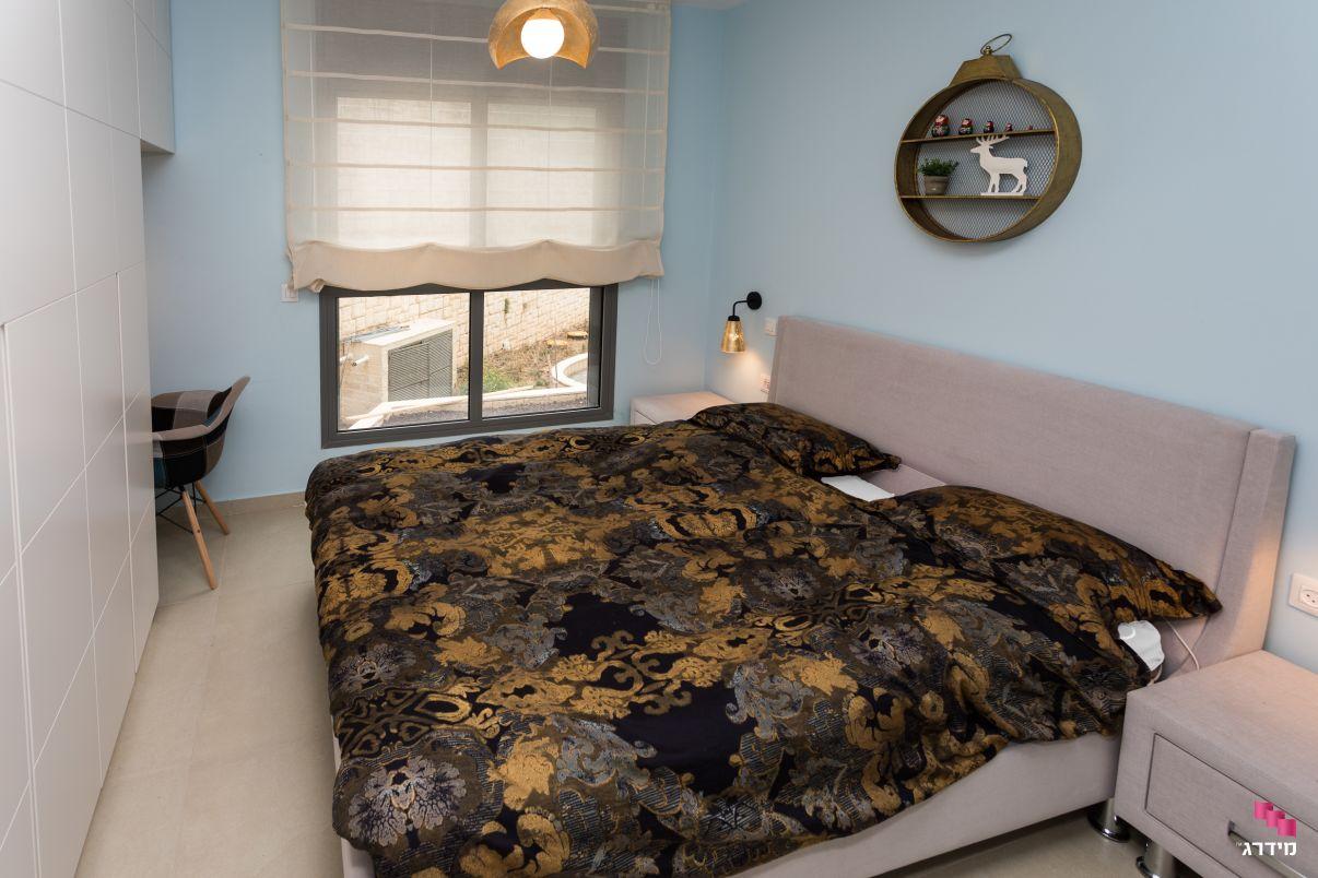 עיצוב חדר הורים דירת קבלן