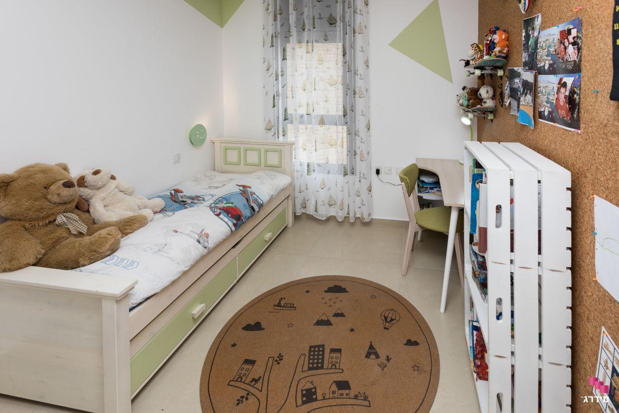 עיצוב דירה מקבלן חדר ילדים