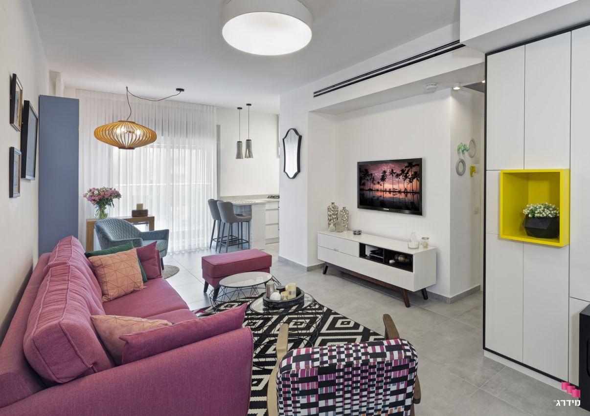 עיצוב סלון בדירה