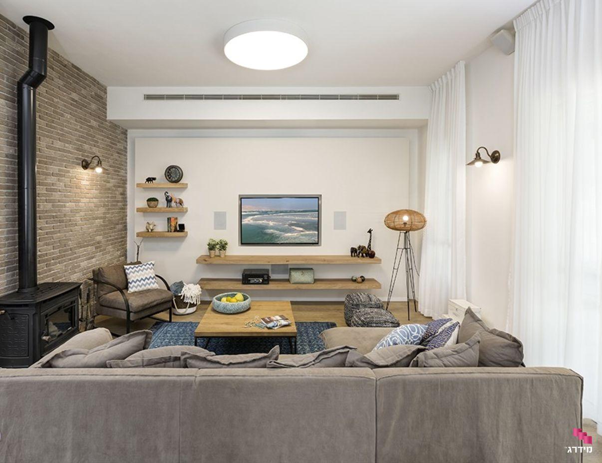 עיצוב סלון בדירה חדשה מקבלן