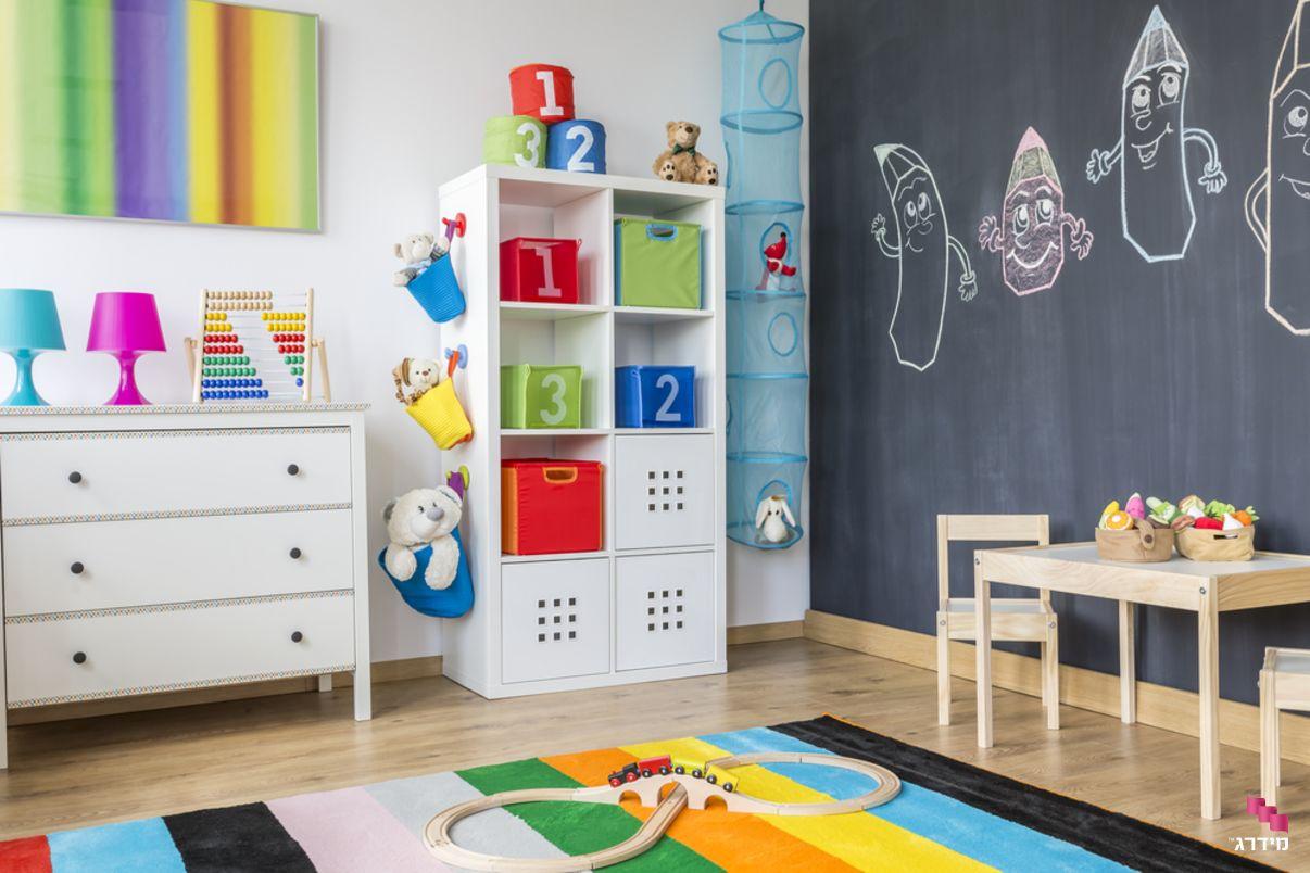 צביעת חדר ילדים באפקט מגנטי