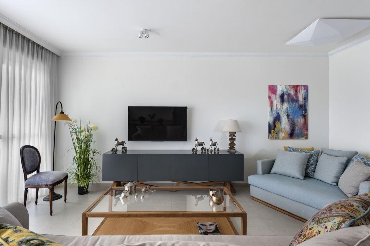 עיצוב סלון דירה מקבלן