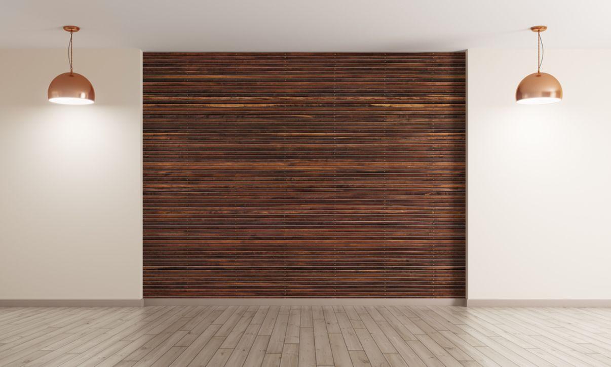 חדר עם חיפוי עץ