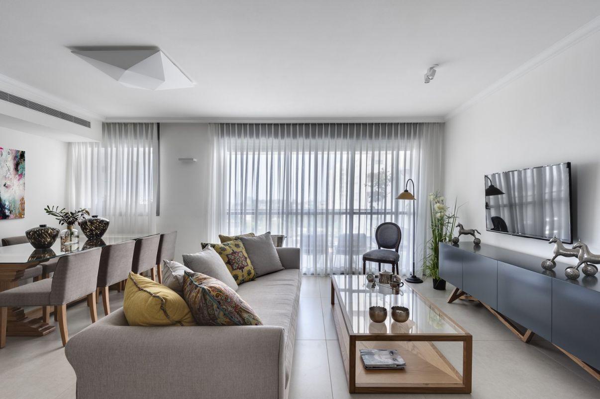 עיצוב דירת קבלן סלון