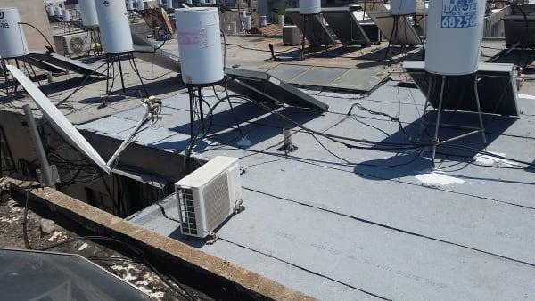 הגג לאחר סיום העבודה