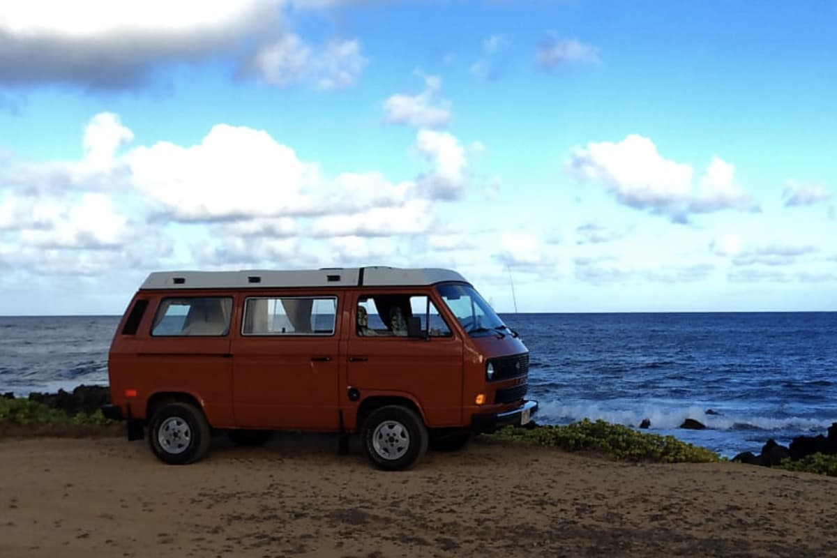 1f35588380 Hawaii Camper Van Hire! Meet Orange Kine