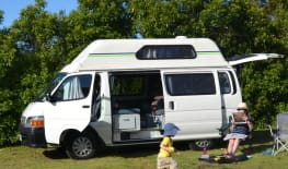 Toyota Hiace 4 berth perfect for young families
