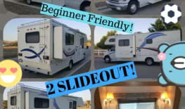 SALE! - UNLIMITED generator use! - 2X TWIN SLIDE OUTS - 110 free miles/day :-) Beginner FRIENDLY - Easy TO DRIVE - BIG beautiful interior - full sized kitchen and shower - sleep 5-6 $003
