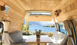 Wooden Cabin Style Camper