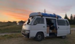 Campervan with kayak