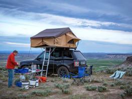 Land Rover truck camper
