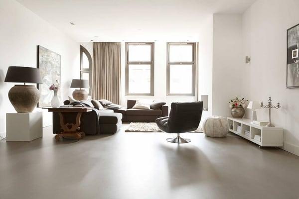 izba s liatou podlahou