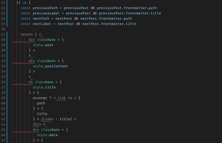 Prettier.js is a fantastic way to systemize and automate your project's code style.