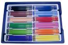 MILAS tykke fargeblyanter, 216 stk. i kasse