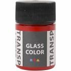 Glass Color Transparent, 35 ml, rød