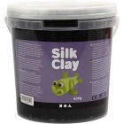 Silk Clay, 650 g, sort