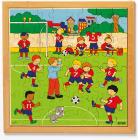 Trepuslespill Fotballkamp
