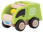 Trebil med gummihjul, (mini søppelbil)