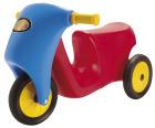 Motorsykkel rød/blå m. gummihjul