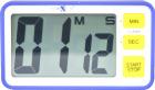Digital stoppeklokke/timer. 3 stk ass. farge