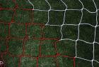 Fotballnett rød/hvit 732x244  3 mm nylon, D:80/200