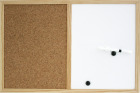 Kombinert kork/whiteboardtavle, 40 x 60 cm