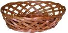 Brødkurv, oval, rødpil 30 cm