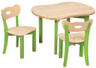 Stol og bordsett 1 (bord og 2 stoler)