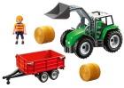 Playmobil traktor m/tilhenger