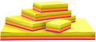 Neonkartong, 180 g, 1800 stk, ass. farger.