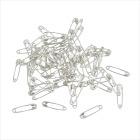 Sikkerhetsnåler, L:22mm, 500 stk, sølv.