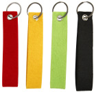 Nøkkelsnor, 3x15cm, 3mm, 4 ass, standard farver