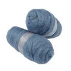 Kardet ull, 2x100 g, skyblå