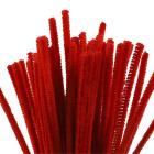 Piperenser, 6mm, L:30cm, 50stk, rød
