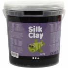 Silk Clay, 650 g, sort