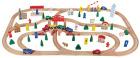 Stort togsett i tre, 100 deler