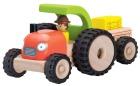 Trebil med gummihjul, (mini traktor m/henger)