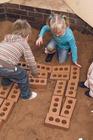 Myke mursteinsklosser. Terracottafarget. 25 stk.***